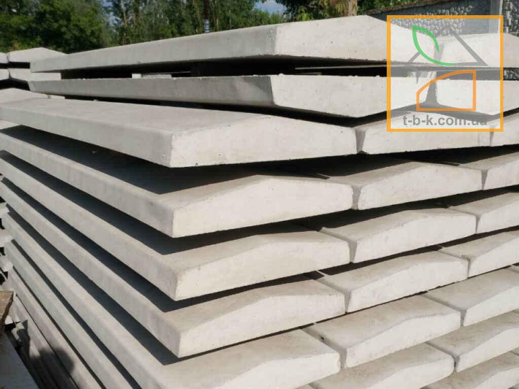 Парапет бетонный (кришка двухскатная) на забор ЧЗ 1000*250*50 - Фото 3