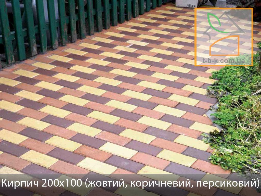 Плитка тротуарная Кирпич стандартный Золотой Мандарин - Фото 9