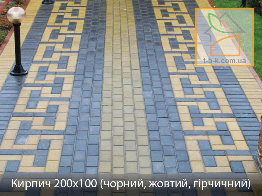 Плитка тротуарная Кирпич стандартный Золотой Мандарин - Фото 7