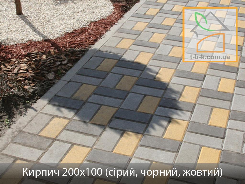 Плитка тротуарная Кирпич стандартный Золотой Мандарин - Фото 15