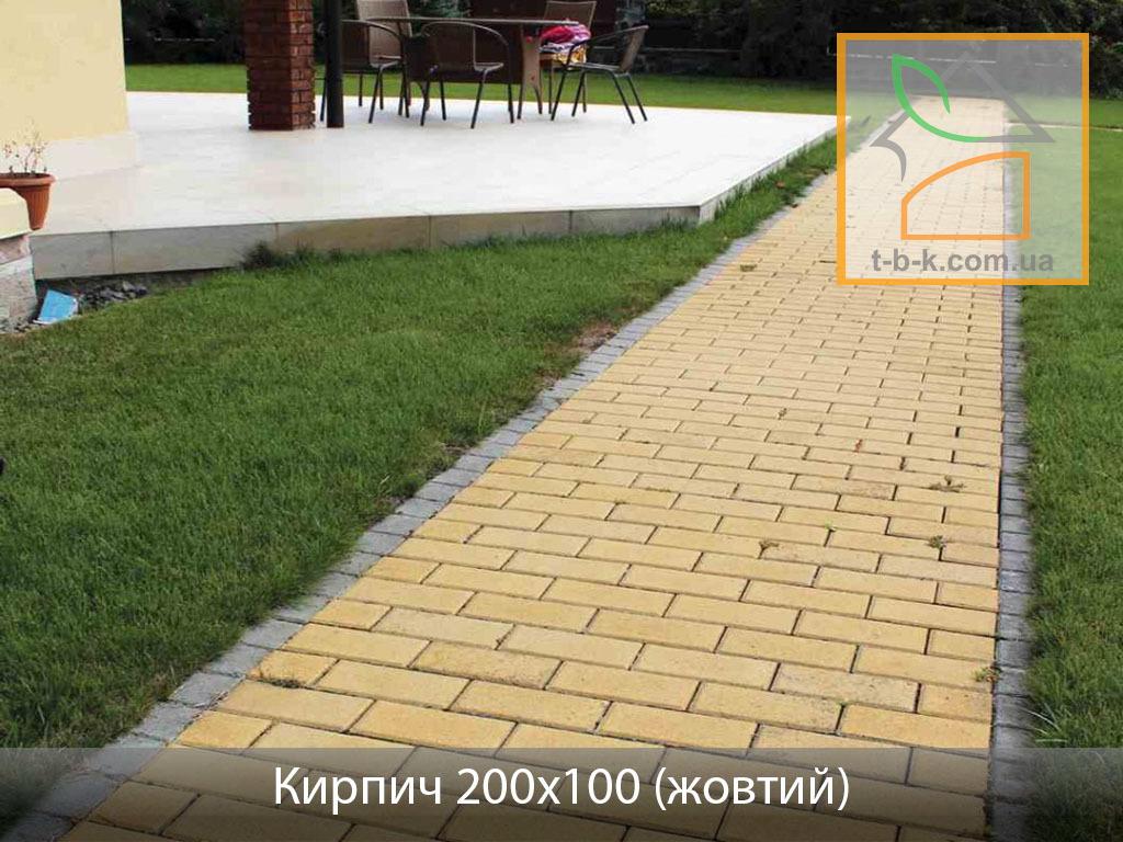 Плитка тротуарная Кирпич стандартный Золотой Мандарин - Фото 26