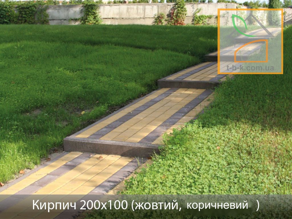 Плитка тротуарная Кирпич стандартный Золотой Мандарин - Фото 22