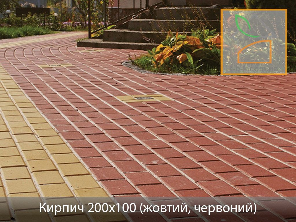 Плитка тротуарная Кирпич стандартный Золотой Мандарин - Фото 24