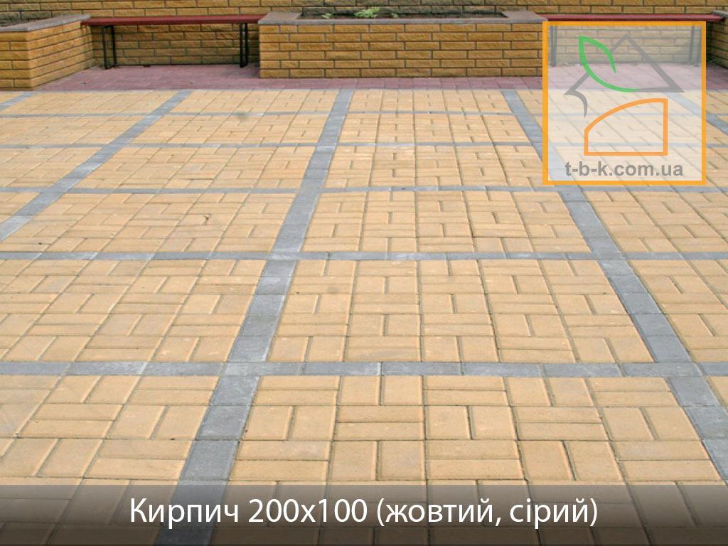Плитка тротуарная Кирпич стандартный Золотой Мандарин - Фото 19