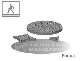 Картинка фото Плитка для пола на улице и участке Золотой Мандарин Ронда Полированная