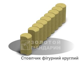 Картинка Столбик фигурный круглый 67*250 (80мм) производитель Золотой Мандарин