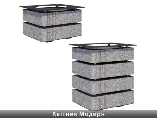 Картинка Цветочница бетонная Модерн производство Золотой Мандарин