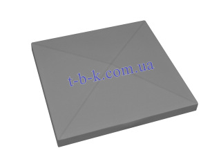 Картинка Кришка на стовпчик ЧОТИРЬОХСКАТНА 510х510
