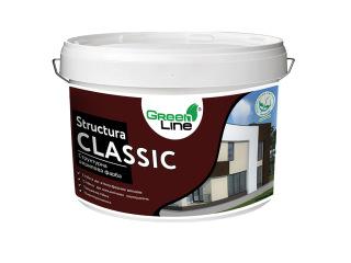 Green Line STRUCTURA CLASSIC 10л Структурная акриловая краска