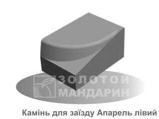Картинка Бордюр дорожный Апарель производитель Золотой Мандарин (левый элемент)