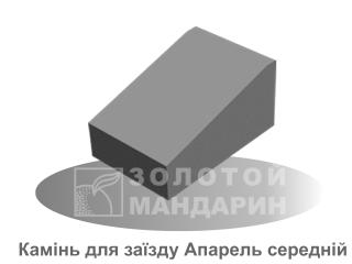 Картинка Бордюр дорожный Апарель производитель Золотой Мандарин (средний элемент)