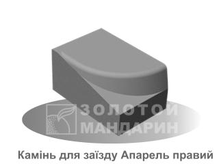 Картинка Бордюр дорожный Апарель производитель Золотой Мандарин (Правый элемент)