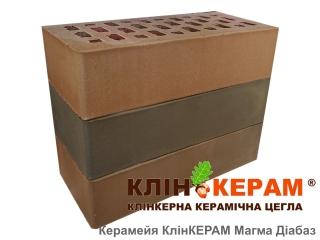Картинка Кирпич лицевой клинкерный КлинКЕРАМ Магма диабаз М350 производитель Керамейя