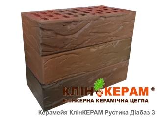 Кирпич облицовочный Керамейя КлинКЕРАМ РУСТИКА Диабаз-3 М350