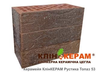 Картинка Кирпич лицевой клинкерный КлинКЕРАМ РУСТИКА Топаз-53 М350 производитель Керамейя