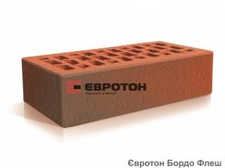 Картинка Кирпич лицевой клинкерный Бордо Флеш М300 производство Евротон