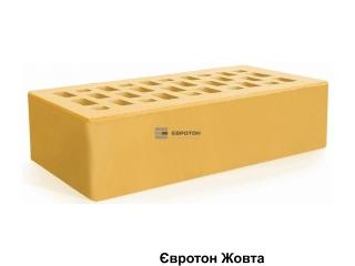 Картинка Кирпич лицевой клинкерный Желтый производство Евротон