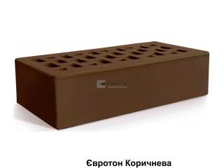 Картинка Кирпич лицевой клинкерный Коричневый производство Евротон