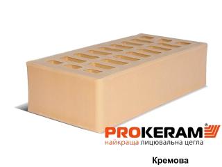 Картинка Кирпич лицевой Кремовый М250 производство Prokeram