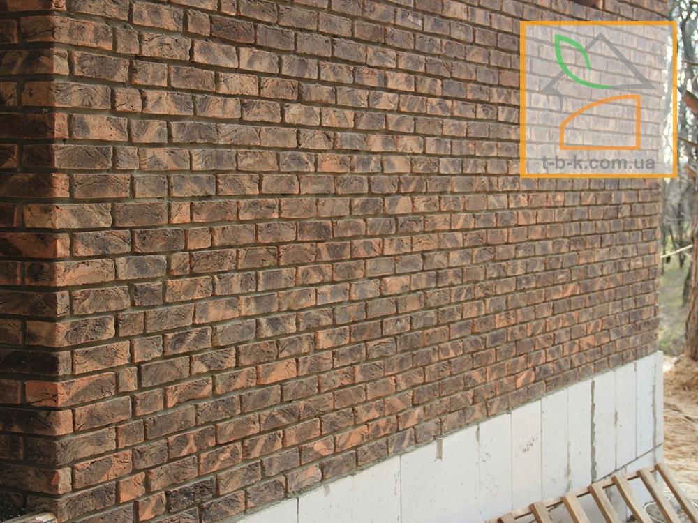 Кирпич лицевой ручной формовки Екатеринославский Графит Белая Ночь - Фото 1
