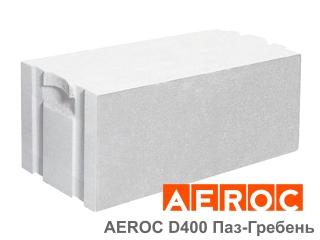 Картинка Блок газобетонный Аэрок D400-С2.5 Паз-Гребень производство г.Обухов