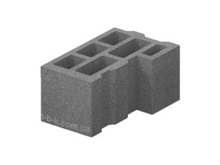 Картинка Блок бетонный стеновой угловой М-75 40.25.20 производство Золотой Мандарин