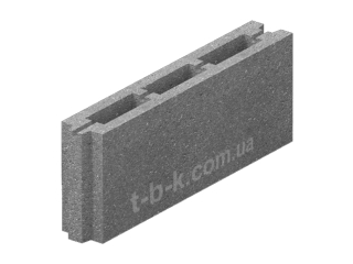 Картинка Блок бетонный перегородочный ЗМ-75 50.8.20 производство Золотой Мандарин