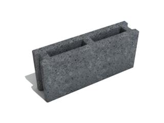 Картинка Блок бетонный перегородочный СБ-Пр4  490х115х220