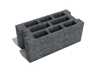 Картинка Блок бетонный стеновой СБ-ПР3