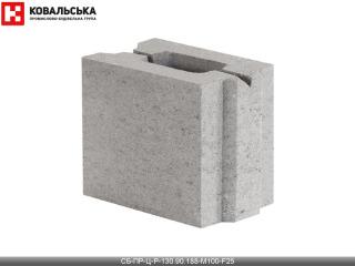 Картинка Блок бетонный перегородочный CБ-ПР-Ц-Р-130.90.188-М100-F25