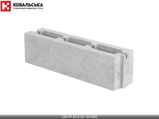 Картинка Блок бетонный перегородочный CБ-ПР 50.8.20 75/1650