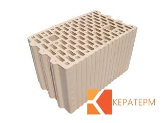 Картинка Блок керамический поризованый Кератерм 25 (250мм) производитель Кузьминецкая Строительная Керамика