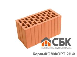 Картинка Блок керамический двойной СБК 2НФ М150 производство Слобожанская Строительная Керамика