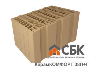 Картинка Блок керамический поризованый Керамкомфорт 38 П+Г Производство СБК