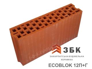 Картинка Блок керамический поризованый Русыния ECOBLOK-12 Производство Кузменцы