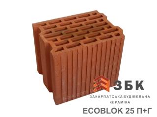 Картинка Блок керамический поризованый Русиния ECOBLOK 25 производитель Кузьминецкая Строительная Керамика