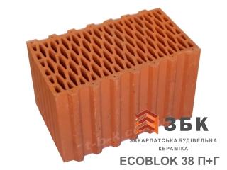 Картинка Блок керамический поризованый Русиния ECOBLOK 38 производитель Кузьминецкая Строительная Керамика