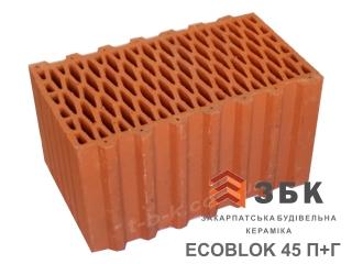 Картинка Блок керамический поризованый Русиния ECOBLOK 45 производитель Кузьминецкая Строительная Керамика