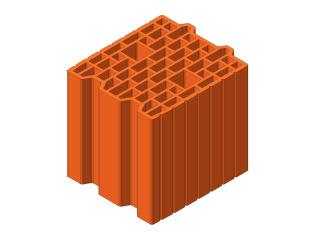 Картинка Блок керамический поризованый Кератерм 25 ЭКО (250мм) производитель Керамей Сумы