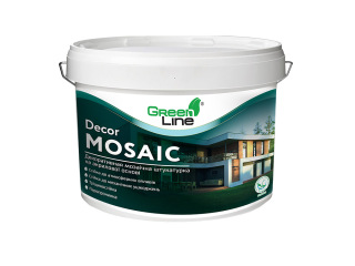 Декоративна мозаїчна штукатурка Green Line DECOR MOSAIC 10л