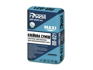 Клей эластичный толстослойный для крупноформатных плит Полипласт ПП-021 MAXI 25кг