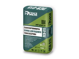 Самовыравнивающаяся смесь для пола тонкослойная Полипласт ПСВ-015 25кг