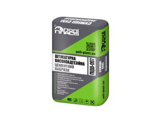 Штукатурка високоадгезійна цементний набризк Поліпласт ПЦШ-007 25кг