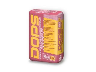 Dops (Допс) MultiFix 25кг Клей армирующий для пенополистирольных и минераловатных плит
