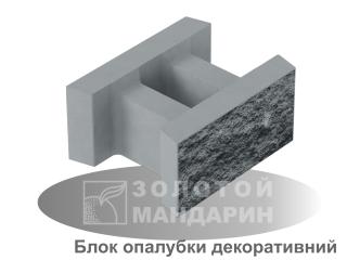 Картинка Блок бетонный декоративный несъемной опалубки 510*400*235 производство Золотой Мандарин