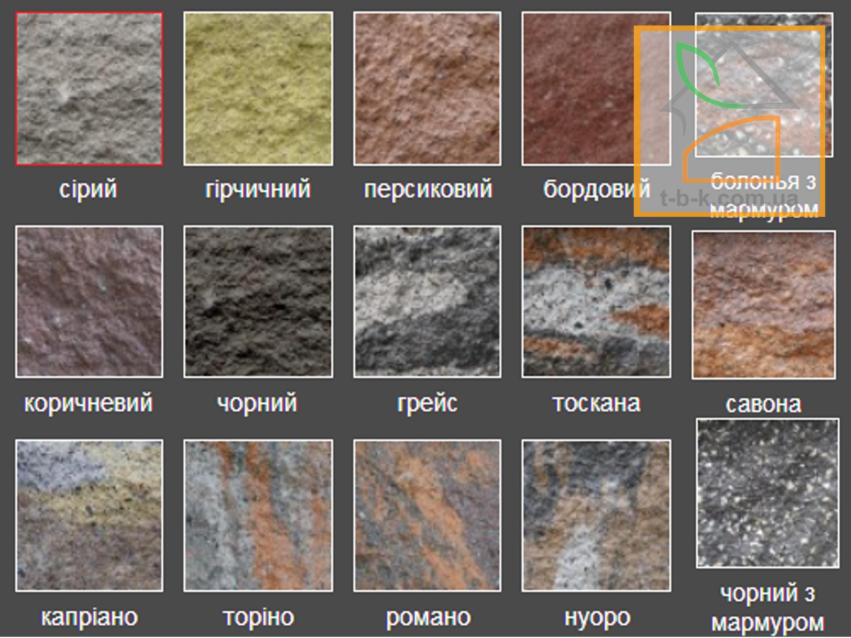 Блок бетонный декоративный (односторонний скол) Золотой Мандарин 400*200*200 - Фото 1