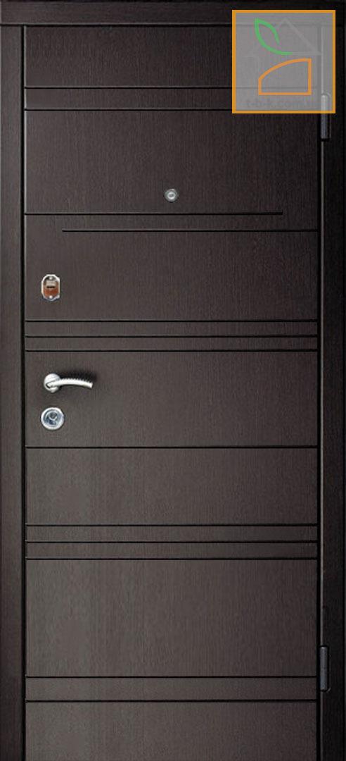 Дверь металлическая входная с МДФ накладками ТРОЯ T-17