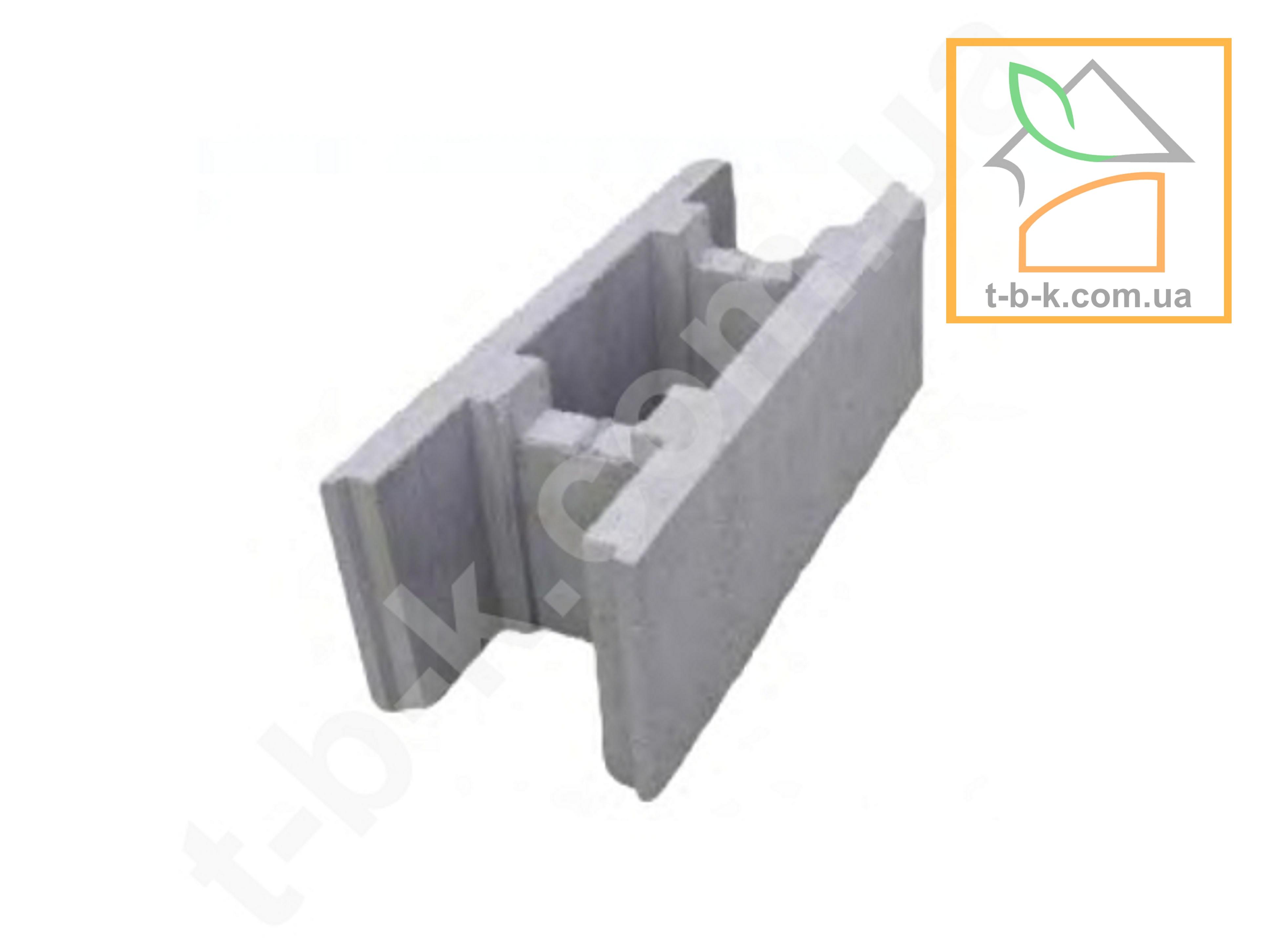 Блок МАЛЫЙ бетонный несъемной опалубки ТБС 500*250*190