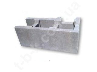 Картинка Блок бетонный несъемной опалубки 500*400*190 угловой производство ТБС