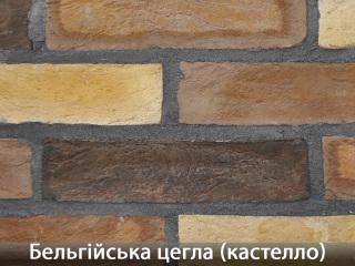 Картинка Облицовочный камень Бельгийский Кирпич Кастелло